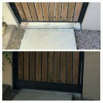 before and after pics of a backyard gate no more snakes !!